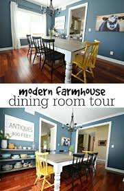 then and now dining room room tour modern farmhouse and modern