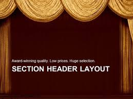 Curtains Show Powerpoint Template Gold Curtains On A Stage In A Theater For A