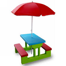 little tikes folding plastic picnic table for children with red