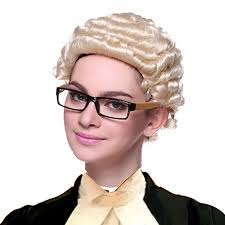 long curly hair style for lawyer lawyer judge short curly blonde women girl synthetic hair high
