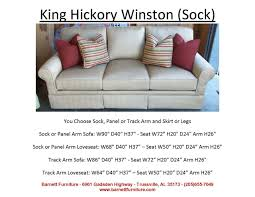 king hickory leather sofa barnett furniture larger sofas90