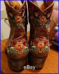 gringo womens boots size 12 gringo s floral embroidery sora leather 8 cowboy