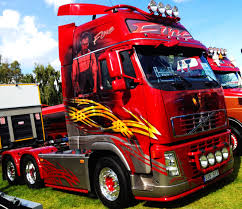 volvo sweden customised artwork volvo fh at the elmia truck show in sweden