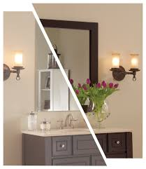 bathroom mirrormate with wall sconces and towel bar plus bathroom