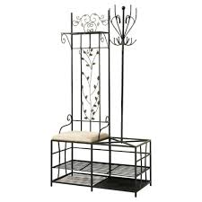 entryway bench and coat rack set 2018 with storage compartment