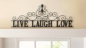 live laugh love amazon com scrolling live laugh love metal wall art home kitchen