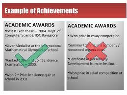academic achievements for resume 960