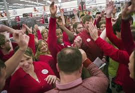 black friday target crowds for hard core holiday shoppers thanksgiving is the new king