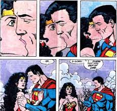 kisses superman woman bleeding cool
