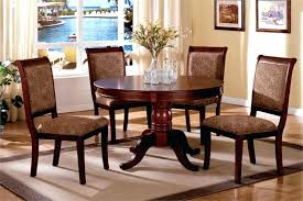 Two Tone Pedestal Dining Table 48 Inch Round Dining Table With Leaf Set Pedestal Extension Square