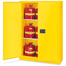 Yellow Flammable Storage Cabinet Standard Flammable Storage Cabinet Manual Doors Yellow 45