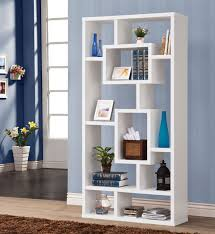 Modern Bookcase White by Bookcases
