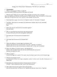 biology unit 6 study guide answers mitosis chromosome