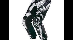 o neal motocross gear o u0027neal element mx hose shocker schwarz weiß motocross enduro