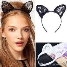 hair bands for women 2017 hot gaga lace cat ear headbands sweet women s accessory