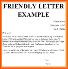 friendly letter template letter writing u2013 all form templates
