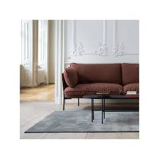 u0026tradition cloud two seater sofa elmo brown leather finnish