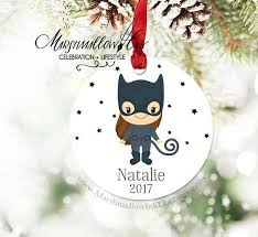 personalized christmas ornament for kids cute superhero