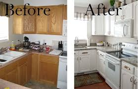 kitchen cabinet painting before after arteriors white painted