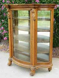 antique curio cabinet with curved glass oak curio cabinets with curved glass antique bowed cabinet china