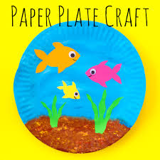 paper plate fish bowl u2014 doodle and stitch