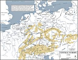 Central Europe Map by Map Of Central Europe 1740 Usma