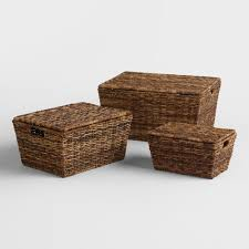 madras rectangular tapered lidded basket world market
