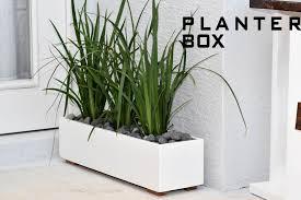 diy window flower boxes modern planter box diy build youtube