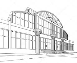 wireframe of office building u2014 stock photo artyfree 5681125