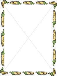 yellow corn border thanksgiving borders