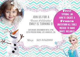 Hello Kitty Invitation Card Maker Free How To Make An Invitation Frozen Themed Youtube