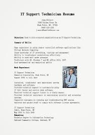 Network Technician Resume Examples by Resume Desktop Support Technician Resume