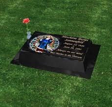 flat headstones for flat marker 28 18 raised color black glitter millennium