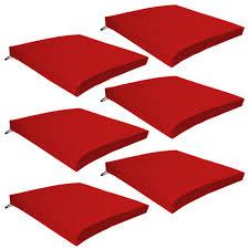 red outdoor indoor home garden chair floor seat cushion pads only
