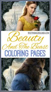 beauty and the beast coloring sheets the farm gabs