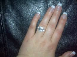 engagement rings that look real anise s cushion cut cz engagement ring