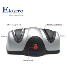 kitchen knives sharpening electric knife sharpener by ekarro 2 stage kitchen blade