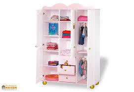 armoire pour enfant épicéa massif blanc et or princess pinolino