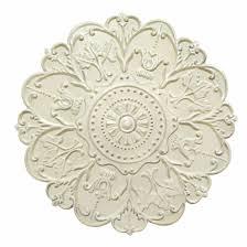 shabby white medallion wall décor stratton home décor s03354