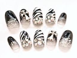nail set nail zebra nail animal print nail black
