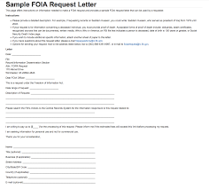 Format Of A Formal Letter Of Complaint by Sample Foia Request Letter U2014 Fbi