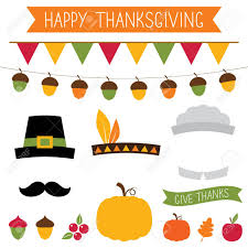 thanksgiving props thanksgiving photo booth props and decoration royalty free cliparts