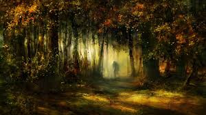 forest human deep mystic forest art tree nature mist fantasy