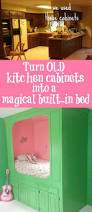Repurposed Kitchen Cabinets Repurpose Cabinets Into A Magical Built In Bed Design Dazzle