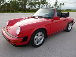 red porsche convertible 1988 porsche 911 carrera cabriolet german cars for sale blog