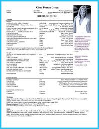 Actor Resume Template Free Resume Tali Custer Sample Theater Resume Theater Resume