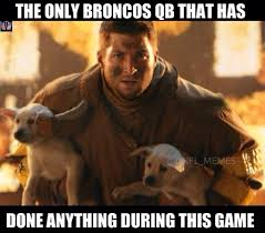 Broncos Losing Meme - in reference to the seahawks broncos super bowl 2 2 14