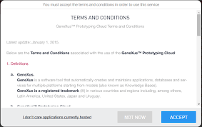 Terms And Conditions Of Use by Terms And Conditions Of Use Of The Genexus Cloud