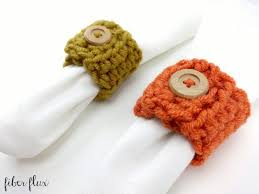 thanksgiving napkin rings craft how to crochet the harvest button napkin ring episode 265 youtube