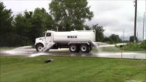 niece 4 000 gallon peterbilt water truck spray test youtube